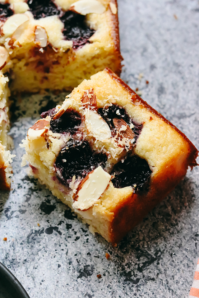 Cherry Coconut Almond Cake