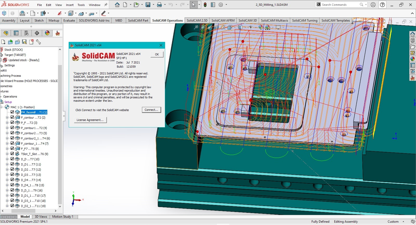 Working with SolidCAM 2021 SP2 HF1 Multilang for SolidWorks 2012-2021 x64 full