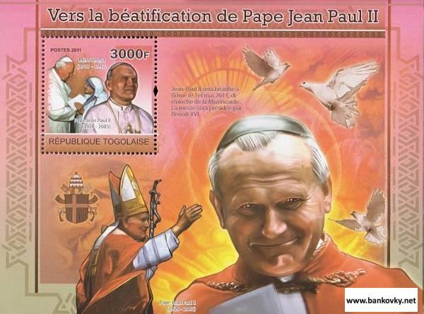 Známky Togo 2010 Pápež Ján Pavol II. MNH hárček