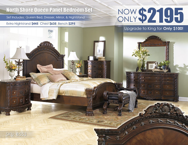 North Shore Queen Panel Bedroom Set_B553-31-36-46-K-PNL-93-09