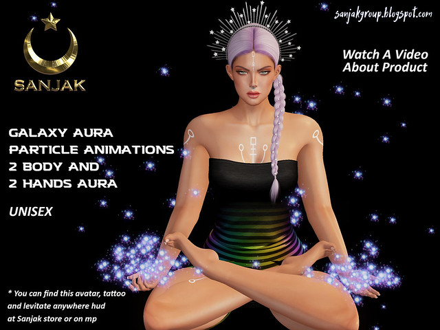 Aura Particles Galaxy Aura and Hands Sanjak