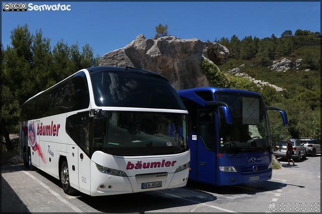 Neoplan Cityliner – Bäumler & Mercedes-Benz Tourismo – Les Courriers Rhodaniens (adhérent au réseau Réunir) n°678
