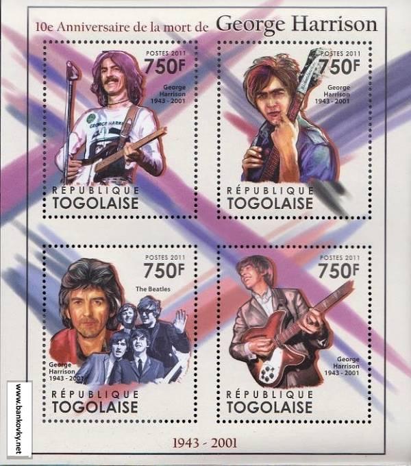 Známky Togo 2011 George Harrison