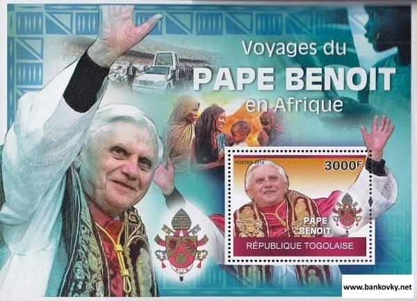 Známky Togo 2010 Pápež Benedikt XVI