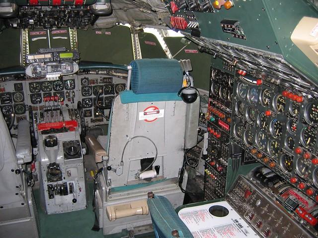Connie's cockpit