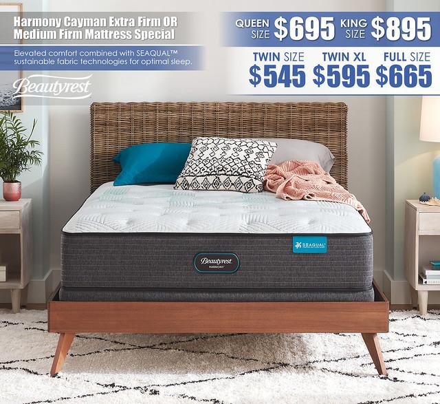 Beautyrest Harmony Cayman Extra Firm OR Medium Firm Mattress