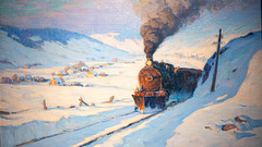 The train, Winter - 1913 Clarence Cannon