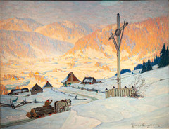 The Wayside Cross, Winter - 1916, Clarence Gagnon