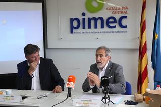 Antoni Cañete i Esteve Pintó es reuneixen amb els col·lectius de diferents sectors i amb representants d'entitats i administracions locals de Catalunya Central