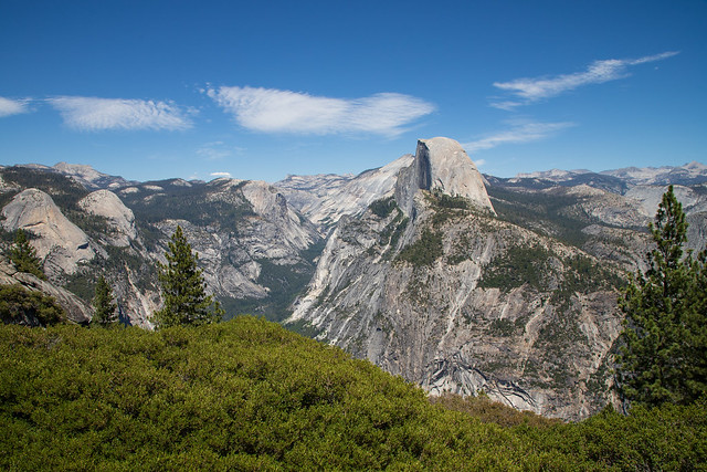 View of the Half Dome from Glacier Point