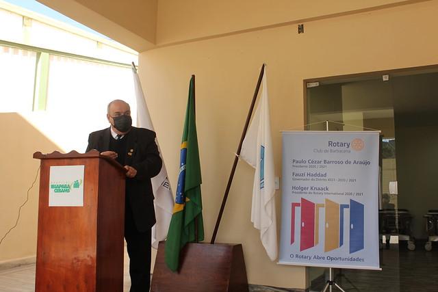 Rotary Club Barbacena entrega doações ao Hospital Ibiapaba CEBAMS - 08/07/2021