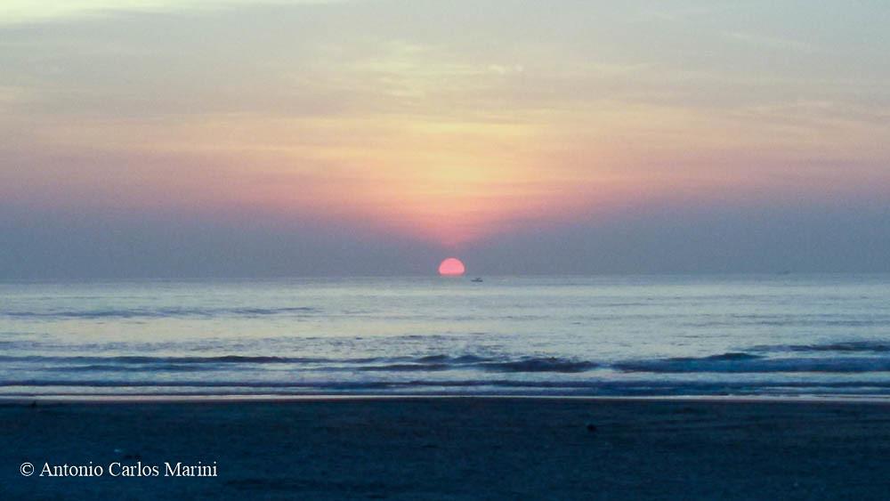 Asturias beach sunrise