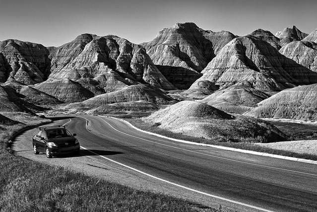 Road through Badlands NP