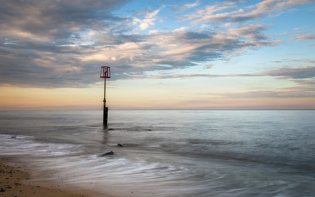 Evening light on the beach at Caister-on-Sea