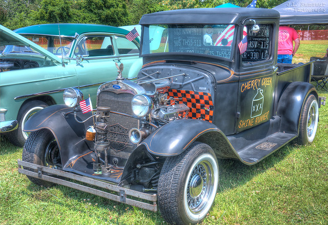 1935 Ford Truck (the Cherry Creek Shine Runner) - Independence Day Car Show - Cookeville, Tennessee