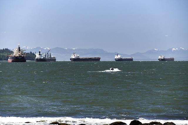 Ships At Anchor - English Bay Vancouver