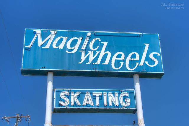 Magic Wheels Skating sign - Jackson, Tennessee