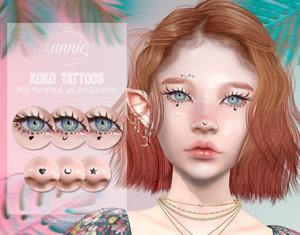 Unnie – Koko Tattoos for SoKawaiiSundays!