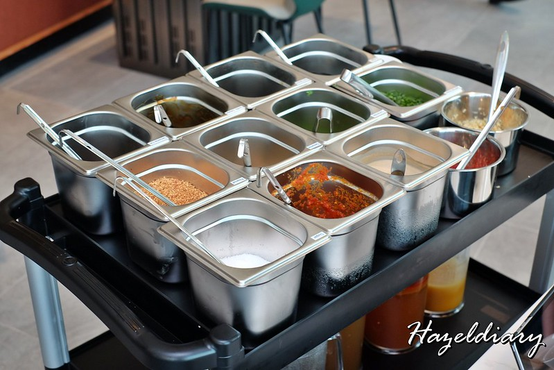 Qixiang Hotpot The Chevrons-Sauces in trolley