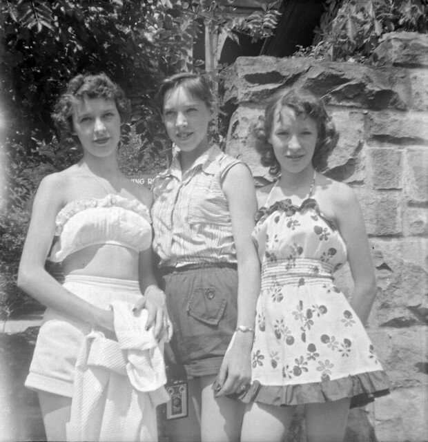Three Young Women, c. 1950