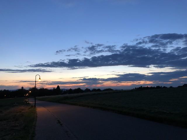 Gundelfingen at sunset
