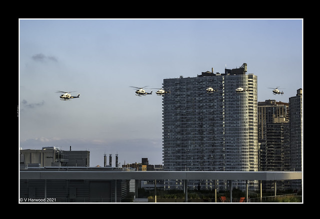 Flyby, NYPD AIR, Long Island City