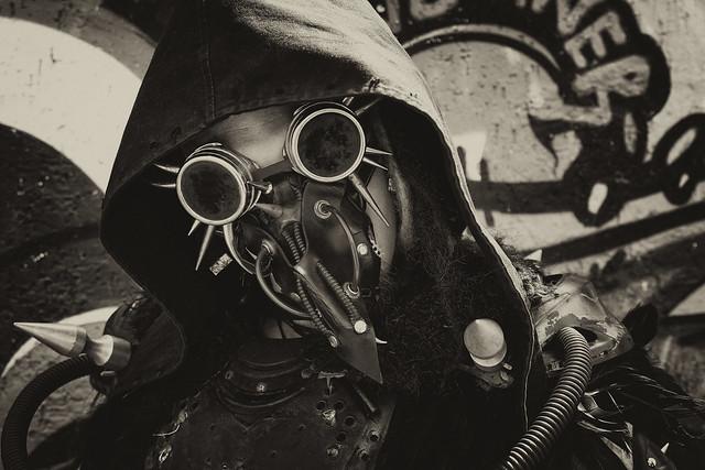 Steam-Punker mit Brille