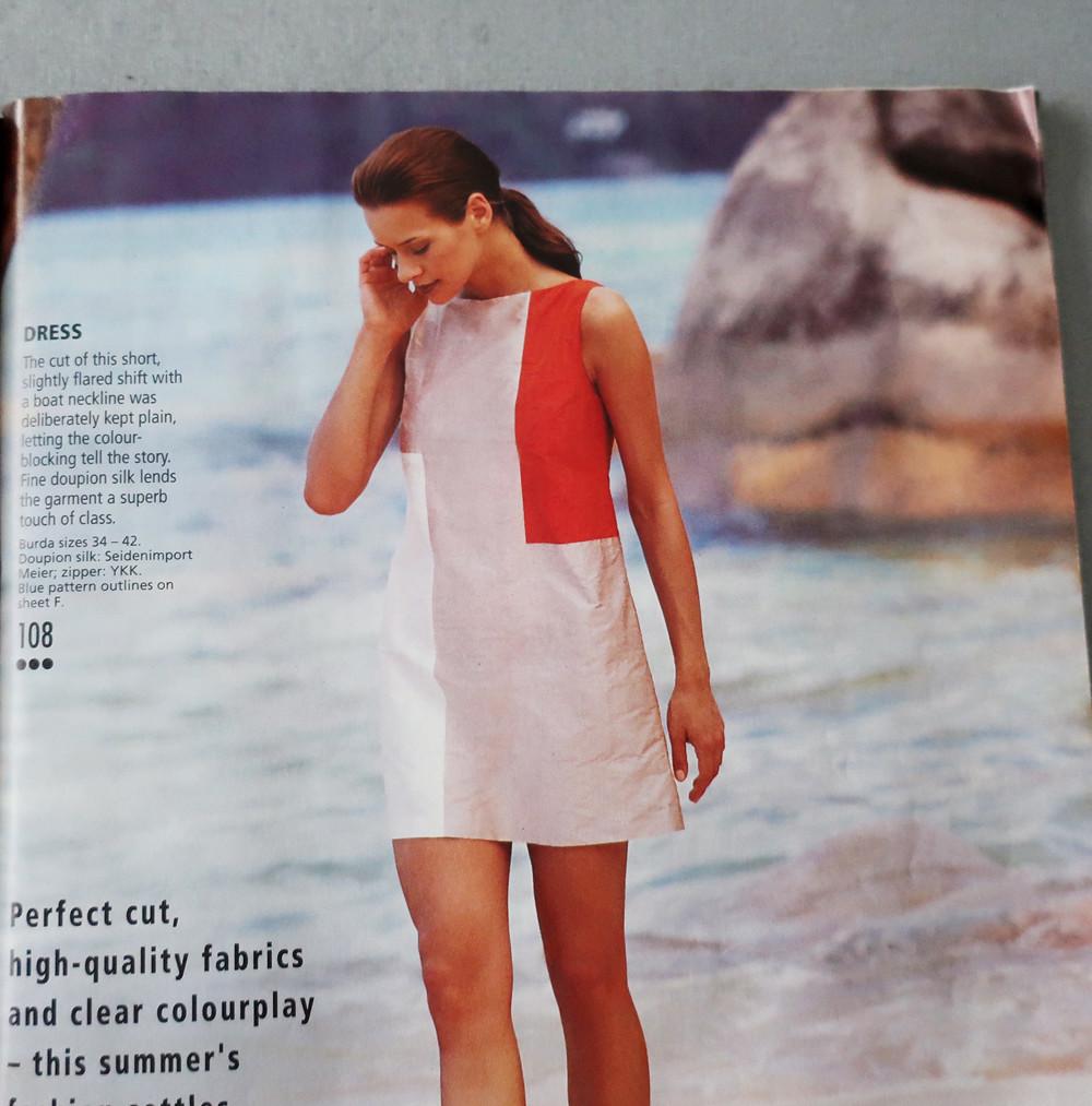 Colorblock burda magazine pic