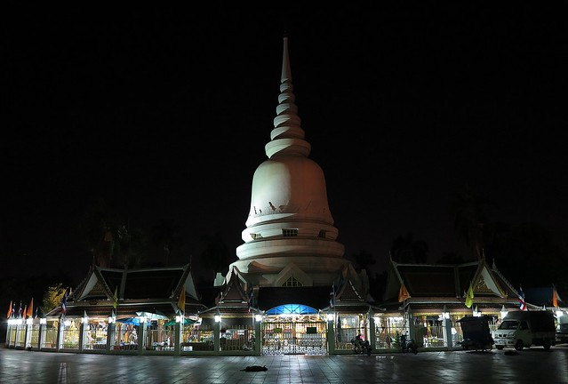 our local temple at night
