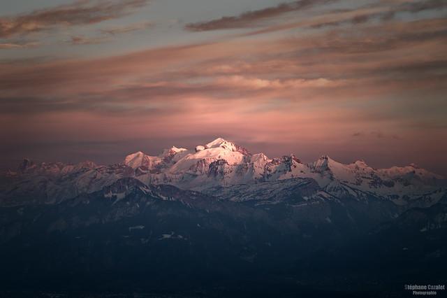 Le Mont-Blanc au Nikon Z6, en maras 2021 (Salève - France)