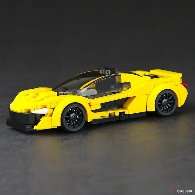 6 wide Brick MOC McLaren P1