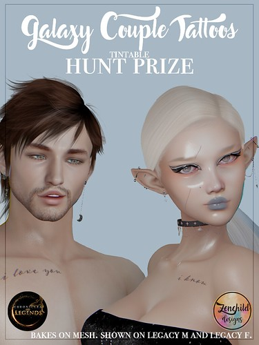 Chronicles & Legends FREE HUNT PRIZE: Galaxy Couple Tattoos