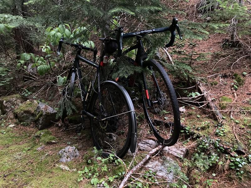 Stashed the bikes near Easy Pass Trailhead
