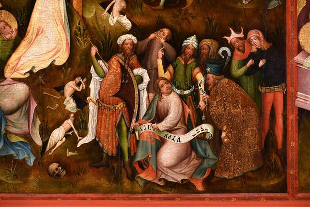 Warendorf , Westfalen, Laurentiuskirche, altar, center panel, crucifixion, detail