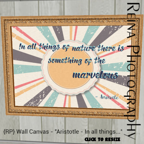 {RP} Wall Canvas Aristotle AD