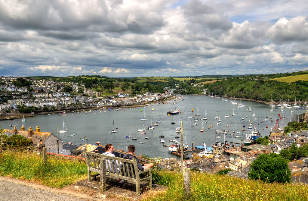 The harbour at Fowey, Cornwall