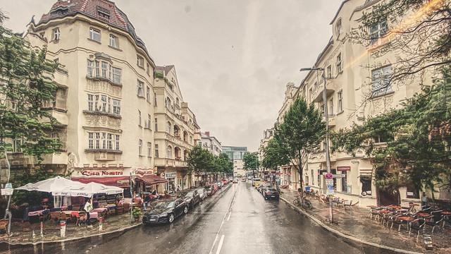 on a rainy Berlin day