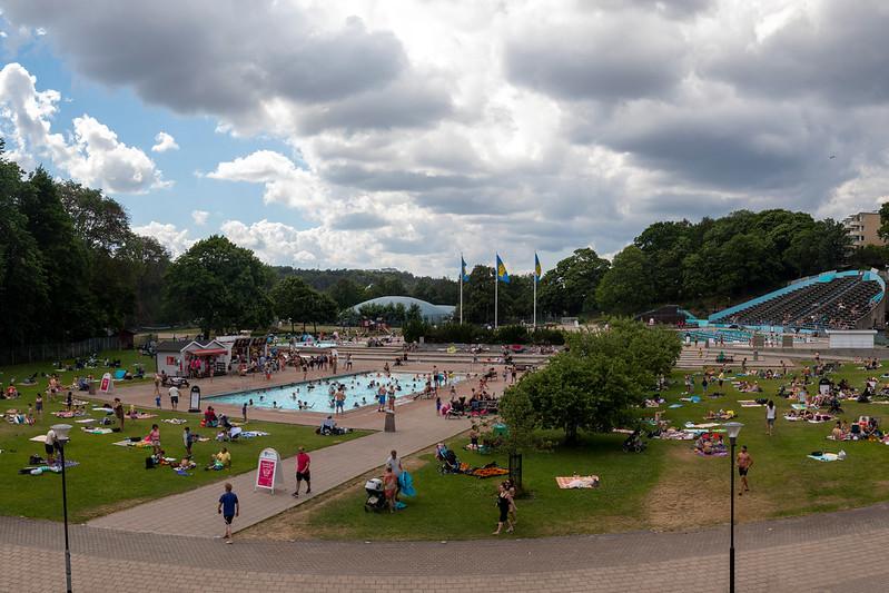 Sunbathers at Eriksdalsbadet