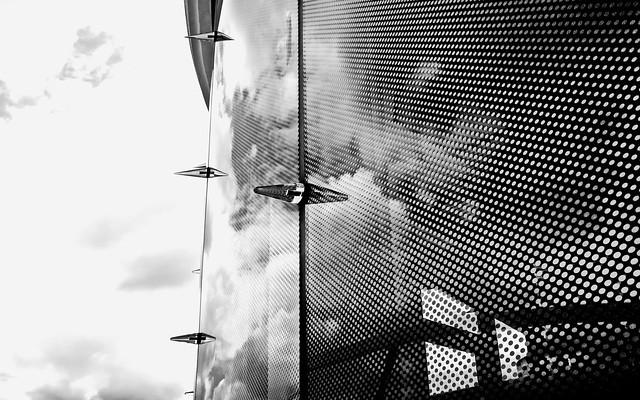 ° ° °  glass facade  ° ° °