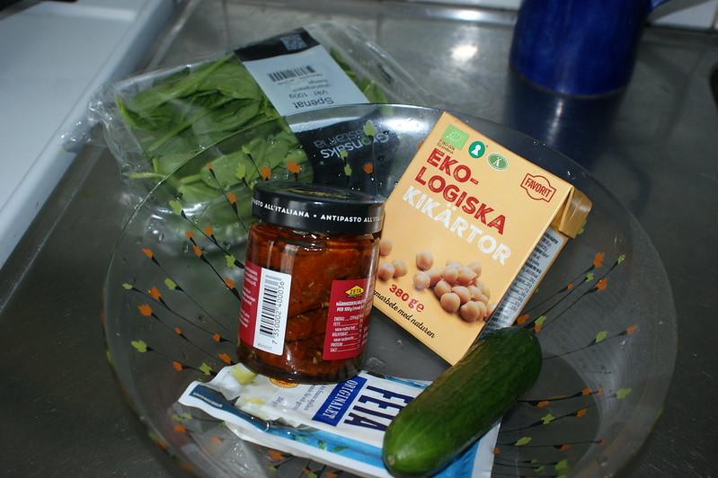 Ingredienser till della Q sallad