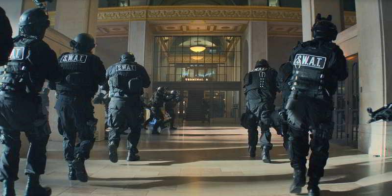 Swat at Macon Train Station