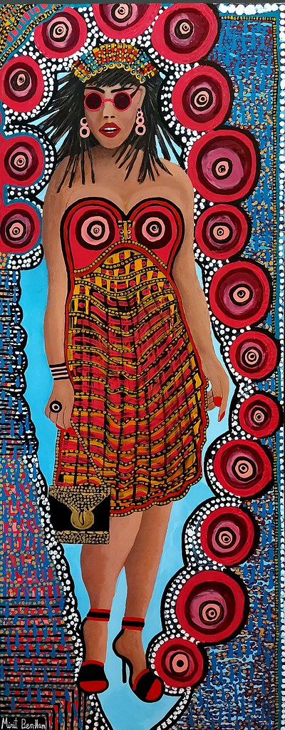 ריאליסטי ציור אקריליק על בד קנבס מירית בן נון ציירת ישראלית