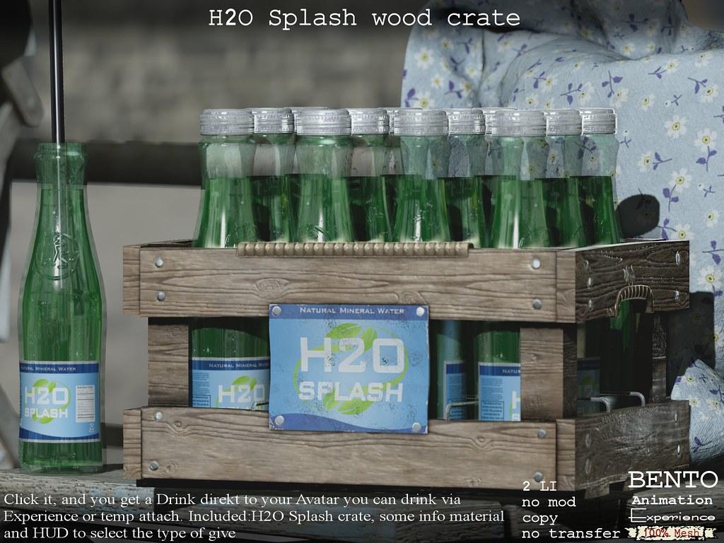 H2O Splash crate