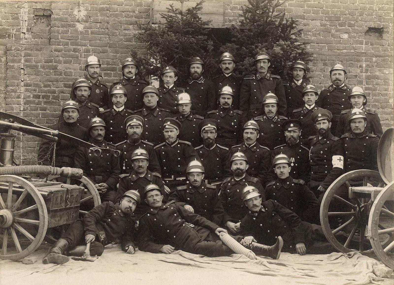 Пожарная дружина Красноярского вольнопожарного общества. 1910
