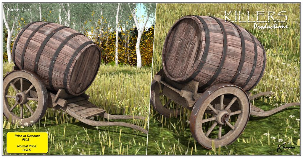 """Killer's"" Barrel Cart Just @ 99L$ For Weekend Inworld Store"