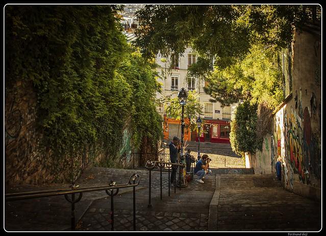 Paris, Montmartre, le matin