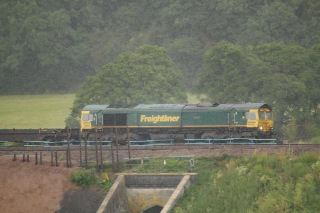 66597 'Viridor' General Motors Class 66 Co-Co, Freightliner, Newton St Loe, Somerset