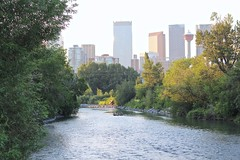 The Calgary Tower from the Scollen Bridge in Erlton