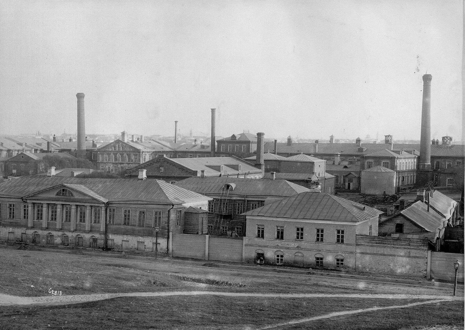 Вид фабричных корпусов Прохоровской мануфактуры