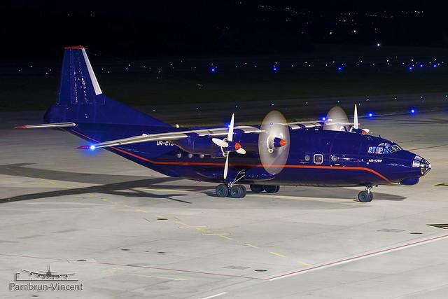 UR-CTJ . Antonov An-12BK . Meridian . Geneva International Airport [GVA/LSGG]